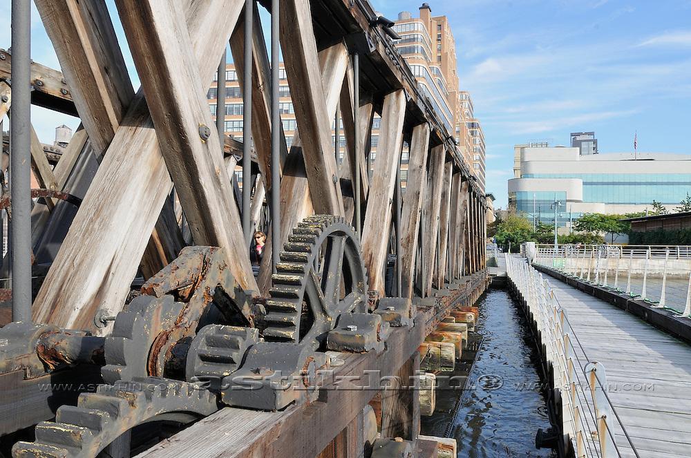 Lackawanna railroad barge in Manhattan.