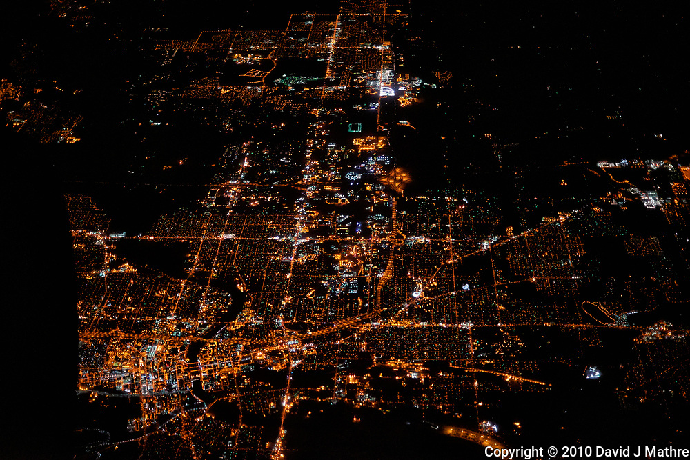 America from the sky. Transcontinental flight from San Francisco to New Jersey. Image taken with a Nikon D3x camera and 50 mm f/1.4 lens <br /> <br /> Des Moines, Iowa
