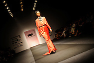 A model wears a creation by Atsu during the New Delhi Fashion Week in New Delhi, India March 22, 2009. Photo by Keith Bedford