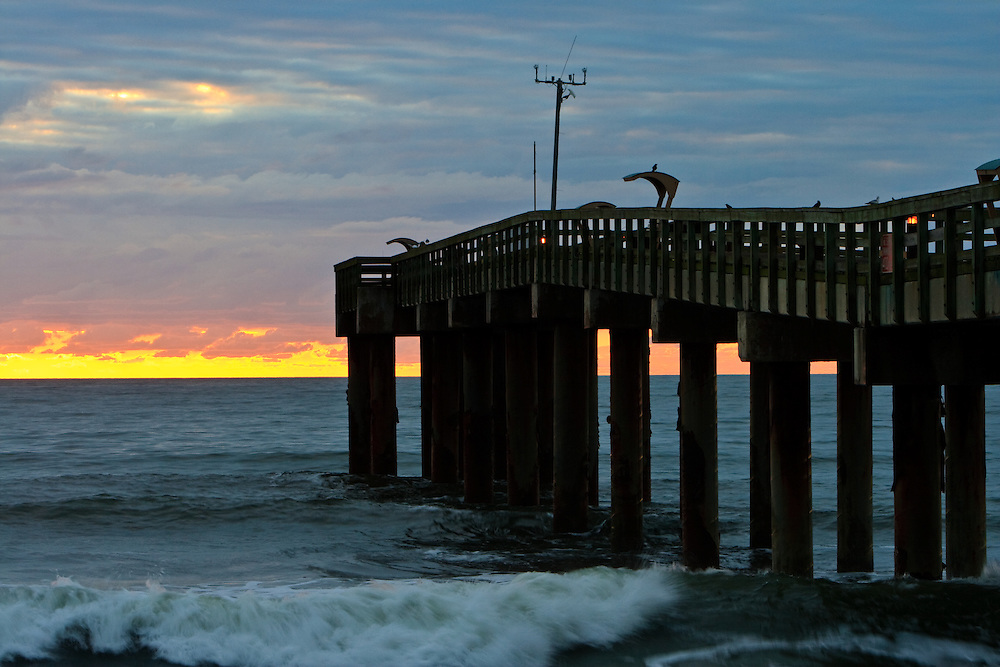 St johns county fishing pier and sunrise st augustine for St augustine fishing pier