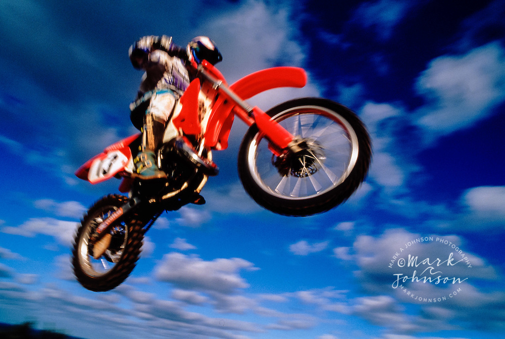 Motocross motorcycle action