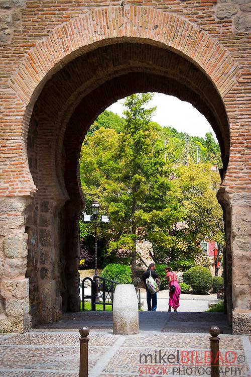 Jewish quarter door in the city wall.<br /> Burgos city. Castile and Leon, Spain.