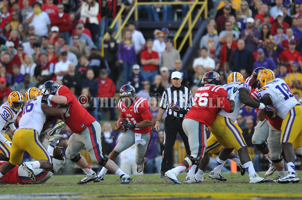 Ole Miss quarterback Barry Brunetti (11) vs. LSU at Tiger Stadium in Baton Rouge, La. on Saturday, November 17, 2012.....