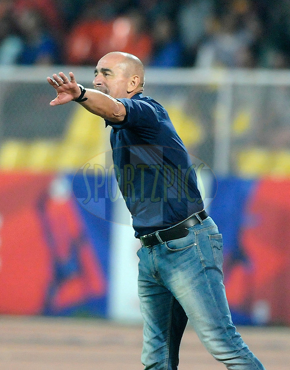 Atletico de Kolkata coach Antonio Lopez Habas during match 44 of the Hero Indian Super League between FC Pune City and Atletico de Kolkata FC held at the Shree Shiv Chhatrapati Sports Complex Stadium, Pune, India on the 29th November 2014.<br /> <br /> Photo by:  Pal Pillai/ ISL/ SPORTZPICS