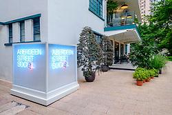 View of upmarket Aberdeen Street Social restaurant in Hong Kong