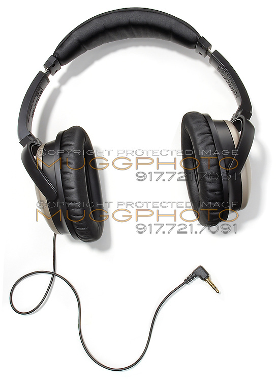 A pair of Bose noise-canceling headphones on a white background.
