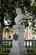 Marti statue in San Luis, Pinar del Rio, Cuba.