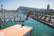 XXX<br /> Men's 27m competition<br /> High Diving<br /> 15th FINA World Aquatics Championships<br /> Barcelona 19 July - 4 August 2013<br /> Palau Sant Jordi, Barcelona (Spain) 31/07/2013 <br /> &copy; Giorgio Perottino / Deepbluemedia.eu / Insidefoto