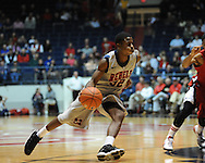 "Ole Miss' Jarvis Summers(32) vs. Louisiana-Lafayette at C.M. ""Tad"" Smith Coliseum in Oxford, Miss. on Wednesday, December 14, 2011. (AP Photo/Oxford Eagle, Bruce Newman)"