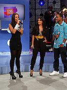 l to r: Alicia Keys,  Rosci and Terrence J at the announcement for The 2009 BET HIP HOP Awards Nominees held at BET Studios on September 16, 2009 in New York City