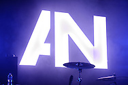 Awolnation's logo on display at their performance at Pop's in Sauget, IL on January 21, 2012.