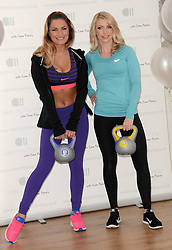 Samantha Faiers and Nicola Attrill attend photocall to launch Samantha's new fitness website 'Celebrity Training with Samantha' at The Worx, London on January 6th 2015 London on Tuesday 6 January 2015
