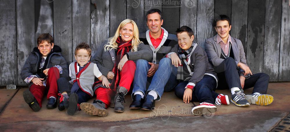 22 November 2012: Scott, Lisa, Logan, Jackson, Joshua and Luke Niedermayer.   Family photos in Costa Mesa, CA.