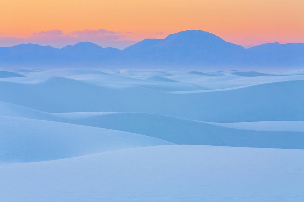 White Sands National Monument in Southeastern New Mexico near Alamogordo.
