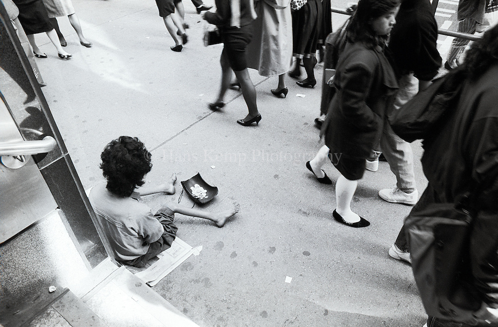 A beggar in Central District, Hong Kong 1991