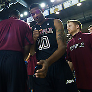 12/30/11 Newark DE: Temple Senior Guard #10 Jake Godino being introduced prior to a NCAA basketball game against Delaware Friday, Dec. 30, 2011 at the Bob carpenter center in Newark Delaware...Rahlir Jefferson-Hollis led the Owls with 13 points and eight rebounds, Anthony Lee added a career-high 12 points, seven rebounds, and three blocks, Juan Fernandez contributed 11 points, and Ramone Moore chipped in with 10 points and a game-high six assists.