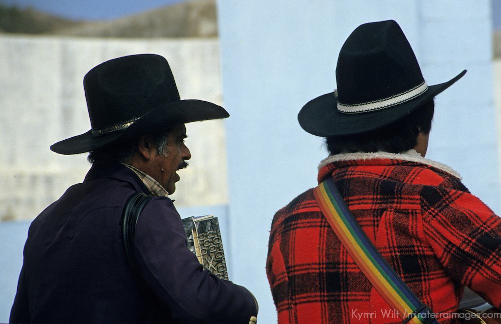 North America, Mexico, Baja. Mexican musicians at la Bufadora.