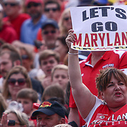 A Maryland fan seen holding a sign during the second half of a 2017 NCAA Division I Men's Lacrosse Quarterfinals game between #1 Maryland and #8 Albany Sunday, May. 21, 2017 at Delaware Stadium in Newark, Delaware.