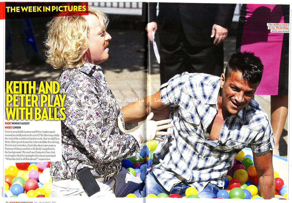 Keith Lemon and Peter Andre / Heat Magazine 20th August 2011.