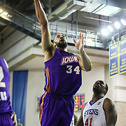 Iowa Energy Forward Jackie Carmichael (34) drives to the basket in the second half of a NBA D-league regular season basketball game between the Delaware 87ers (76ers) and the Iowa Energy Tuesday, Jan 14, 2014 at The Bob Carpenter Sports Convocation Center, Newark, DE