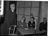 1959 - Fr O'Riordan giving a lecture for FAS at Francis Xavier Hall