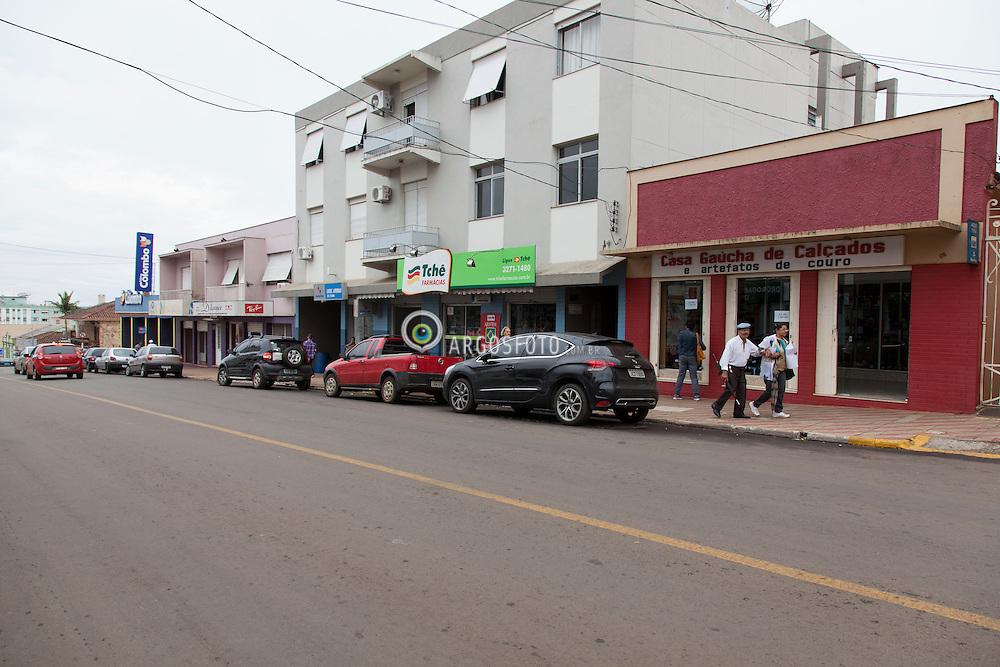 Centro da cidade Julio de Castilhos, RS. / City center Julio de Castilhos, RS. Foto: Adri Felden/Argosfoto.