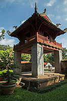 The Temple of Literature is Confucian temple which was formerly a center of learning in Hanoi. It is Confucian Temple, not Buddhist, and was once called Imperial Academy - Vietnam's first university.  It is one of several temples in Vietnam which are dedicated to Confucius, sages and scholars. The various pavilions, halls, statues and stelae of doctors are places where offering ceremonies, study sessions and the strict exams of the Dai Viet took place. The temple is shown on the 100,000 Vietnamese Dong banknote.