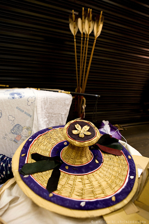 Hat and arrows used by Yabusame archers.