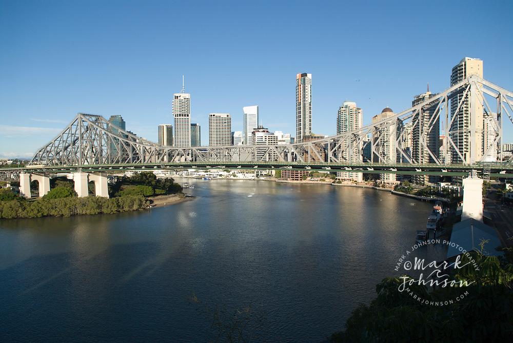 Brisbane, Queensland, Australia, Story Bridge spanning the ...