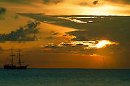 Pirate Ship at Sunset Grand Cayman