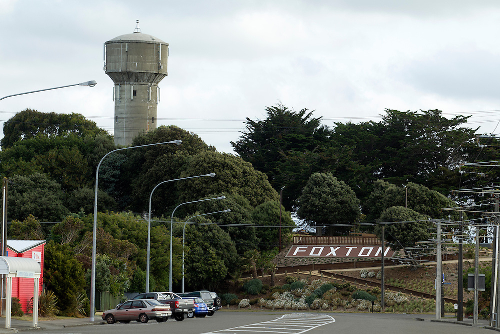 Foxton Sign, Foxton, New Zealand, Monday, December 23rd, 2013. Credit:SNPA / Ben Campbell