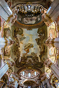 Another example of Prague architecture. The Baroque-styled Church of St. Nicholas (Kostel svatého Mikuláše) takes statuary and gilding to new levels.