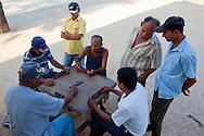 Street dominoes in Bocas, Holguin, Cuba.