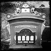 Ornate mailbox in Budingen, Germany