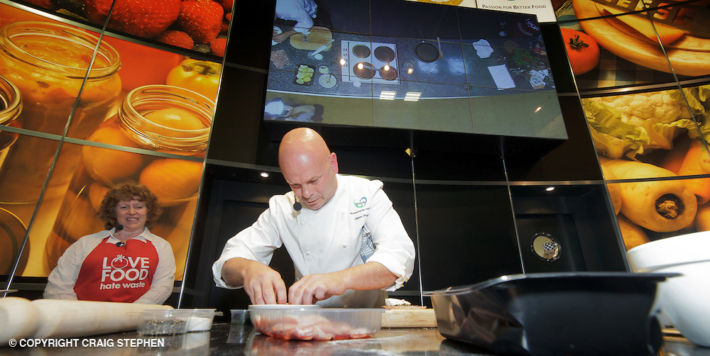 Royal Highland Show, 2011. Glenn Purcell, exec development chef with Vion Foods Ltd demonstrates at the cookery theatre