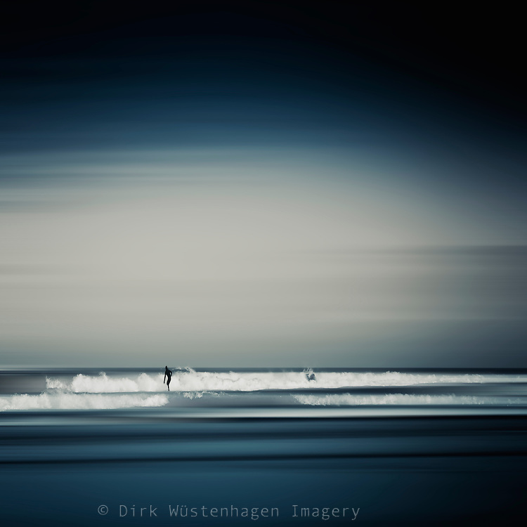 Abstract Seascape with surfer<br />