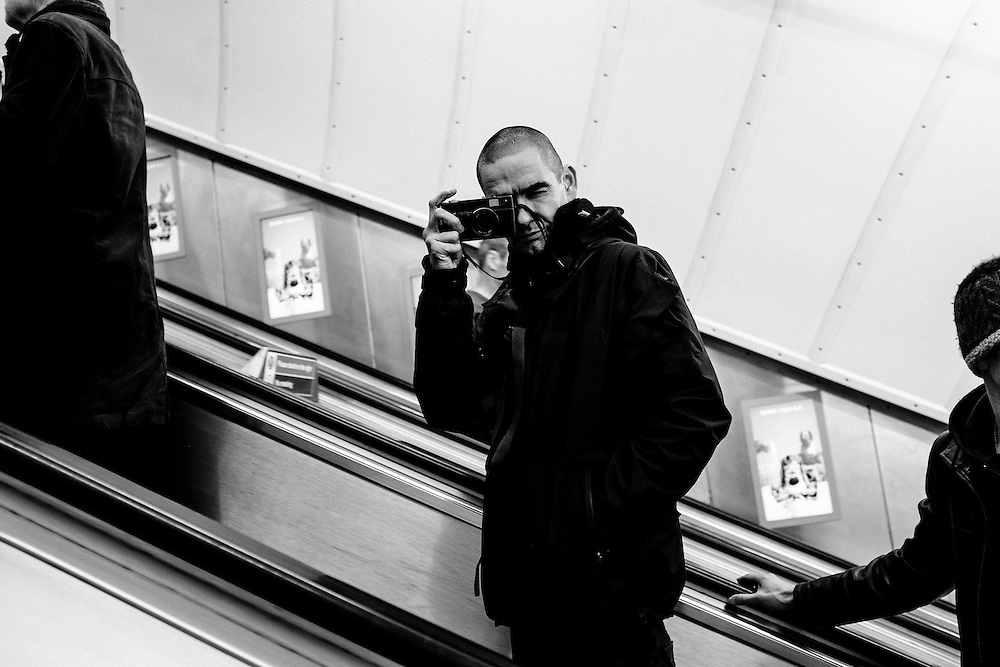Street Photographer, Boogie photographed in London, 10th February 2014. Photo by Greg Funnell