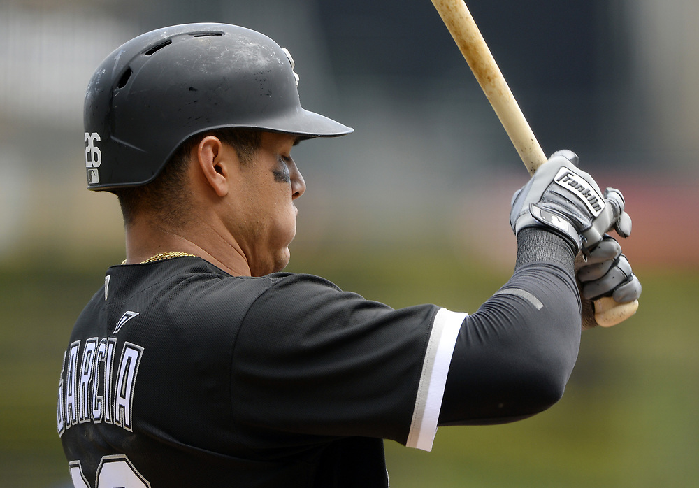 CHICAGO - APRIL 26:  Avisail Garcia #26 of the Chicago White Sox looks on against the Kansas City Royals on April 26, 2017 at Guaranteed Rate Field in Chicago, Illinois.  The White Sox defeated the Royals 5-2.  (Photo by Ron Vesely)   Subject:  Avisail Garcia