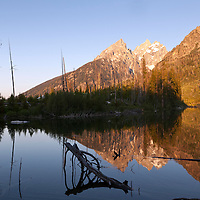 WY00603-00...WYOMING - String Lake and the Teton Range in Grand Teton National Park.