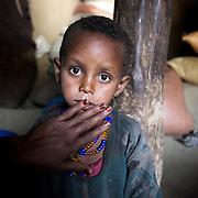 Yalem Menso, 4, at home in Adi Sibhat, Tigray, Ethiopia.