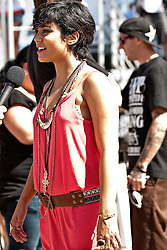 HUNTINGTON BEACH, CA - AUG  4: Acting and music sensation Vanessa Hudgens backstage at the U.S. Open of Surfing 2011 Walk the Walk finals. Vanessa co-hosted the Walk the Walk finals with Actor Tristan Wilds and Supermodel Marisa Miller.  Photo by Eduardo E. Silva