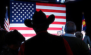 A Republican supporter watches results of the U.S. Senate race in the U.S. midterm elections in Denver, Colorado, November 4, 2014.  REUTERS/Rick Wilking (UNITED STATES)