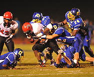 Oxford High's Darrius Liggins (37) makes a tackle vs. Center Hill in Oxford, Miss. on Friday, September 23, 2011.