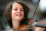 27/8/2004.Roisin Thomas faged 17 from Middlesbrough pictured at the Fleadh Cheoil in Clonmel yesterday.Roisin whose mum was origionally from Mullingar was at the Scoil Eigse through out the week..Picture Dylan Vaughan
