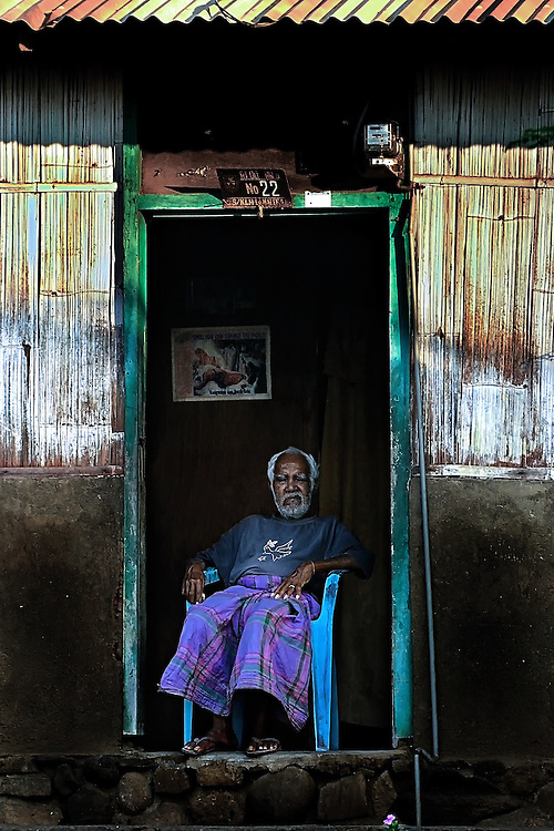 A retired whale hunter on Lembata Island, Indonesia.