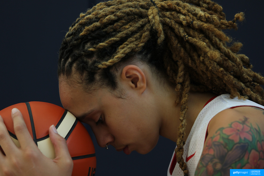 Player Portraits: Brittney Griner <br /> <br /> The 2016 USA Basketball Women's National Team Training Camp at the  University of Connecticut&rsquo;s Werth Family UConn Basketball Champions Center, Storrs, Connecticut. 21st February 2016. Photo Tim Clayton