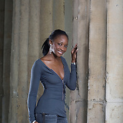 Hannahh Osunsina, Law student at Luton University and Miss Black Britain 2007, encouraging youngsters to head for higher education