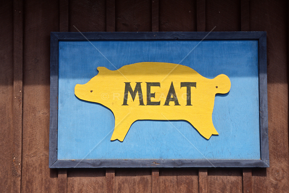 Butcher Sign For Meat | ROB LANG IMAGES: LICENSING AND COMMISSIONS