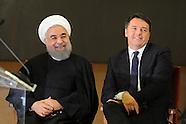 20160125 -  Conf. stampa Matteo Renzi,  con il Presidente iraniano, Hassan Rohani
