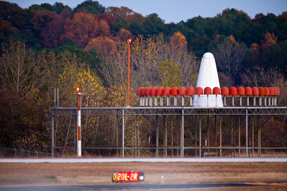 VHF omnidirectional radio range (VOR) installation, at Atlanta's DeKalb Peachtree Airport (PDK).